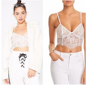 Tiger Mist Emery Lace Bustier Crop Top Size XS